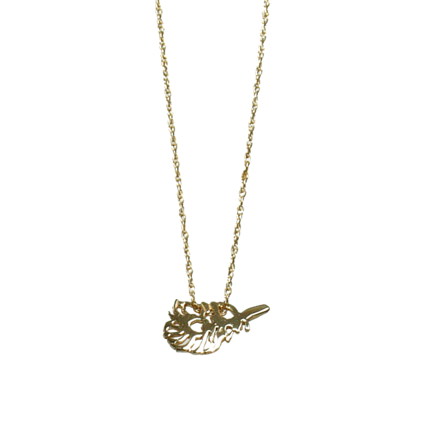 Teenie Peacock Feather Necklace