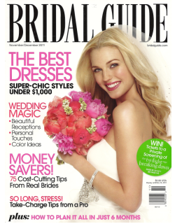 The Bridal Guide November/December issue features my Tear Drop Hoop Earrings