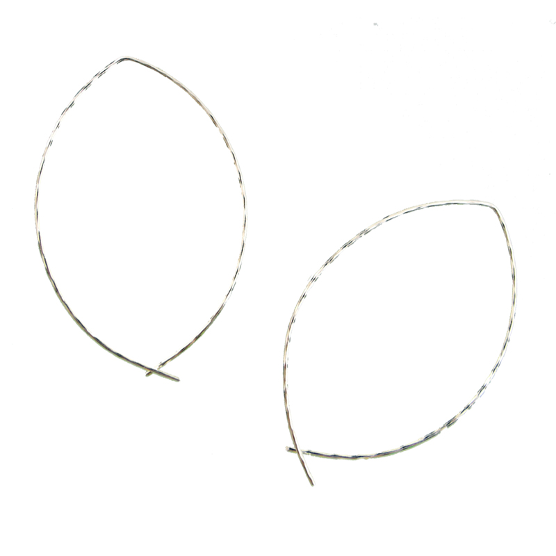 Twisted Bottom Hoops