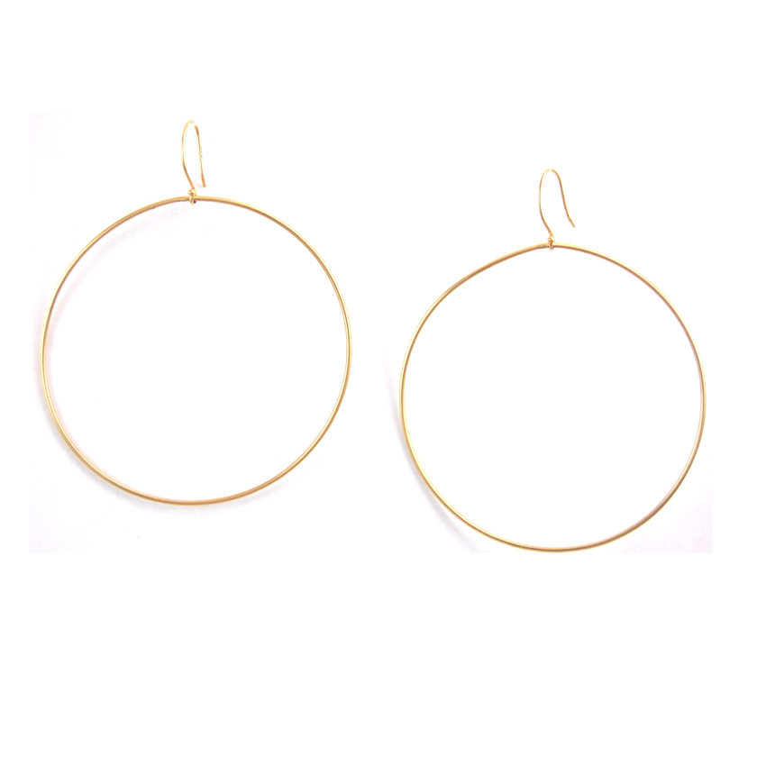 Large 14kt Gold Hoops