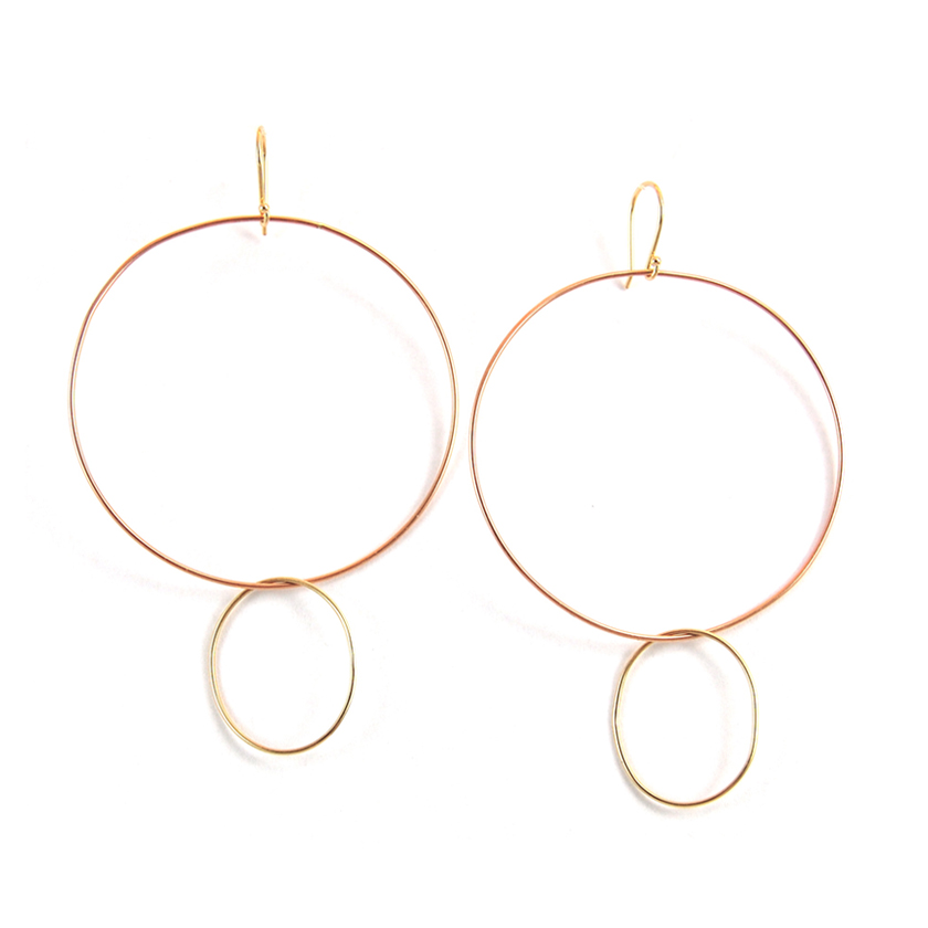 Oval Drop Hoops