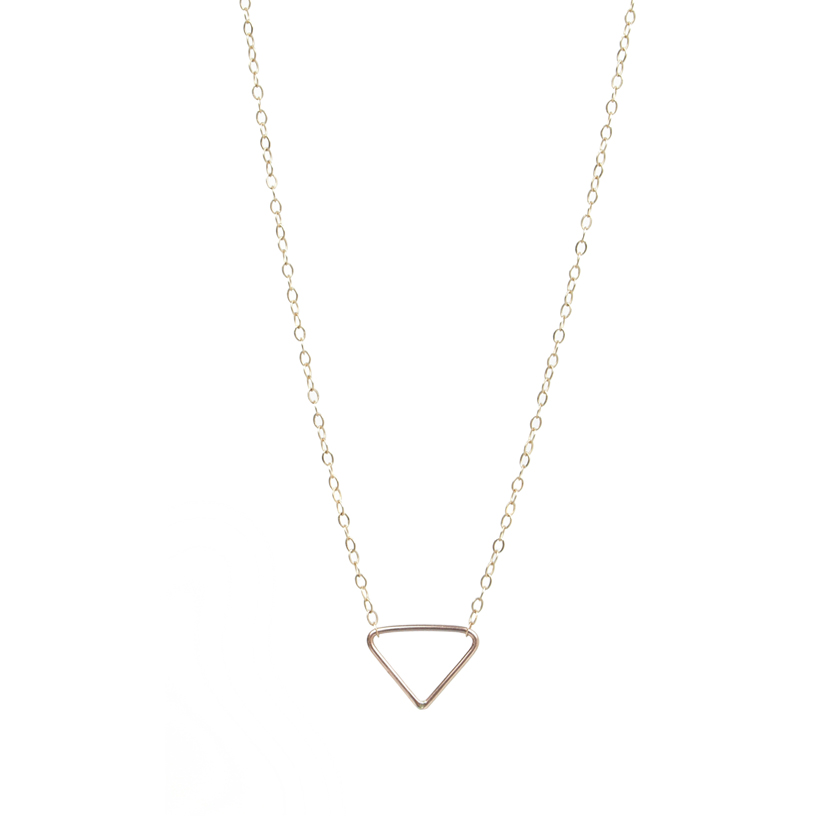 Teenie Triangle Necklace
