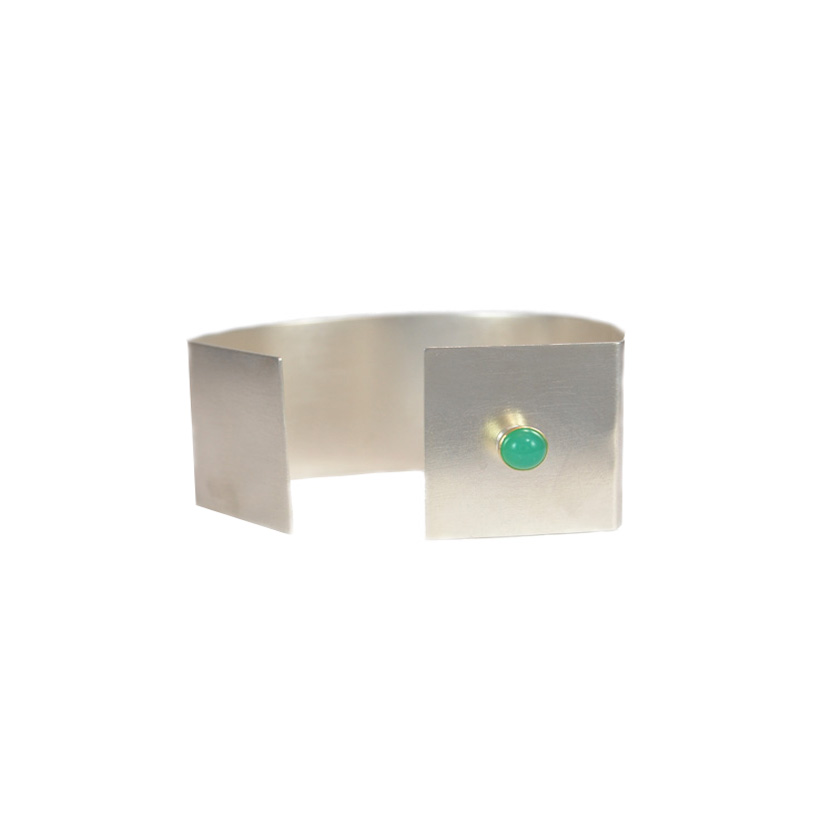 Sterling Cuff with Semi Precious Stone