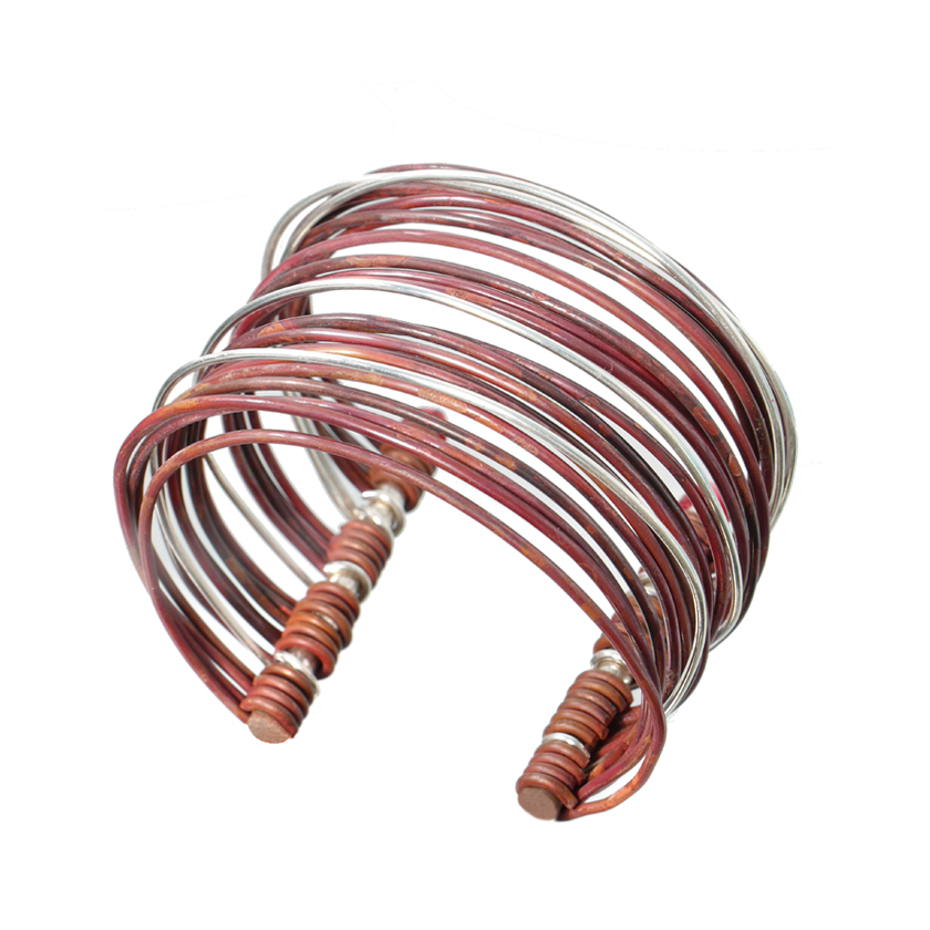 Copper and Silver Cuff