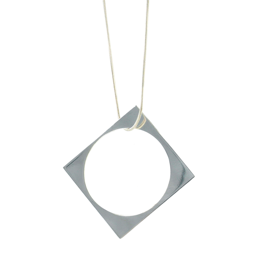 Square with Hole Pendant