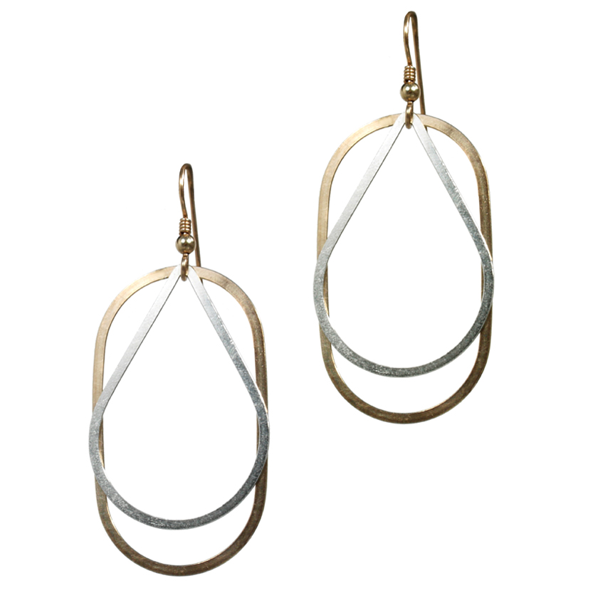 Oval and Large Tear Drop Earring