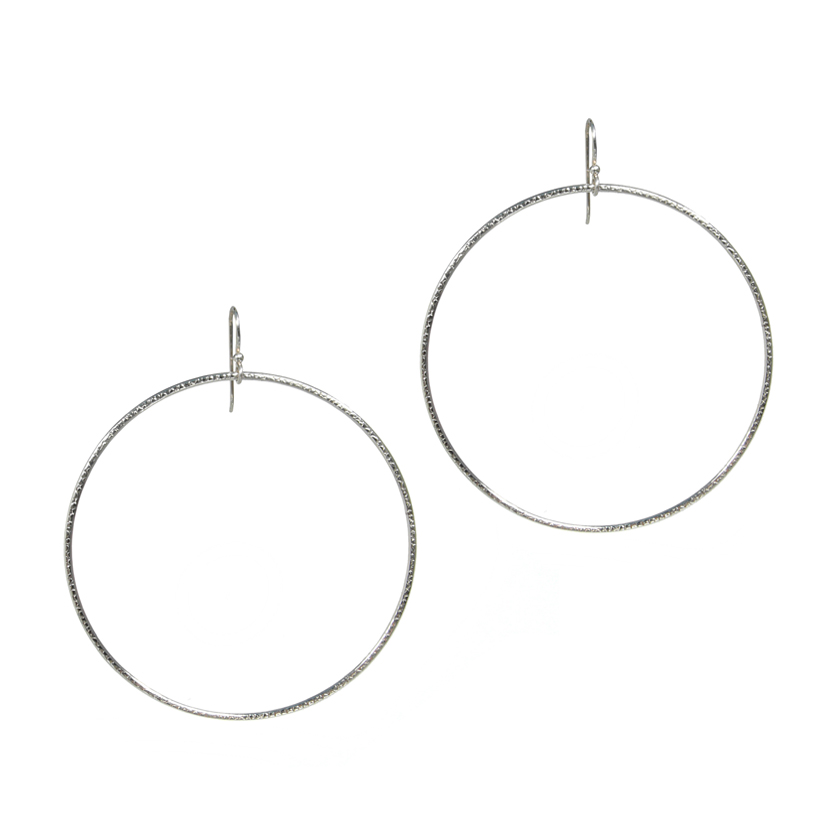 Large Textured Circular Hoops