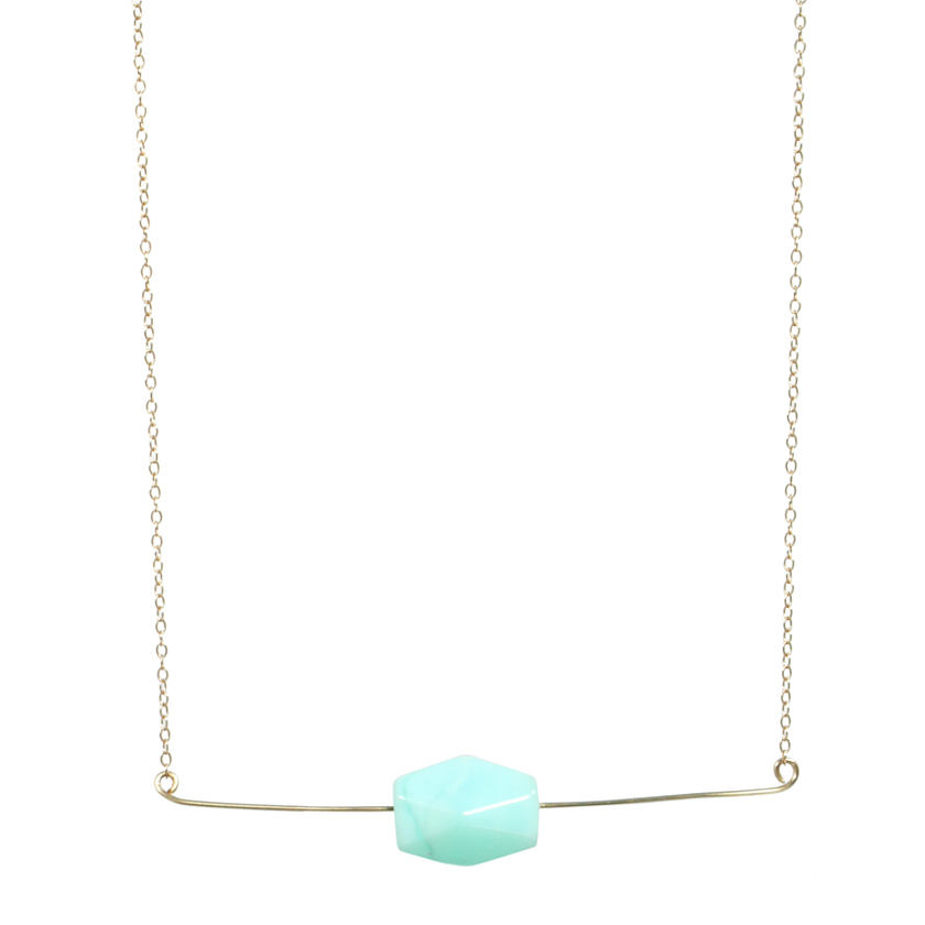 Floating Peruvian Opal Necklace