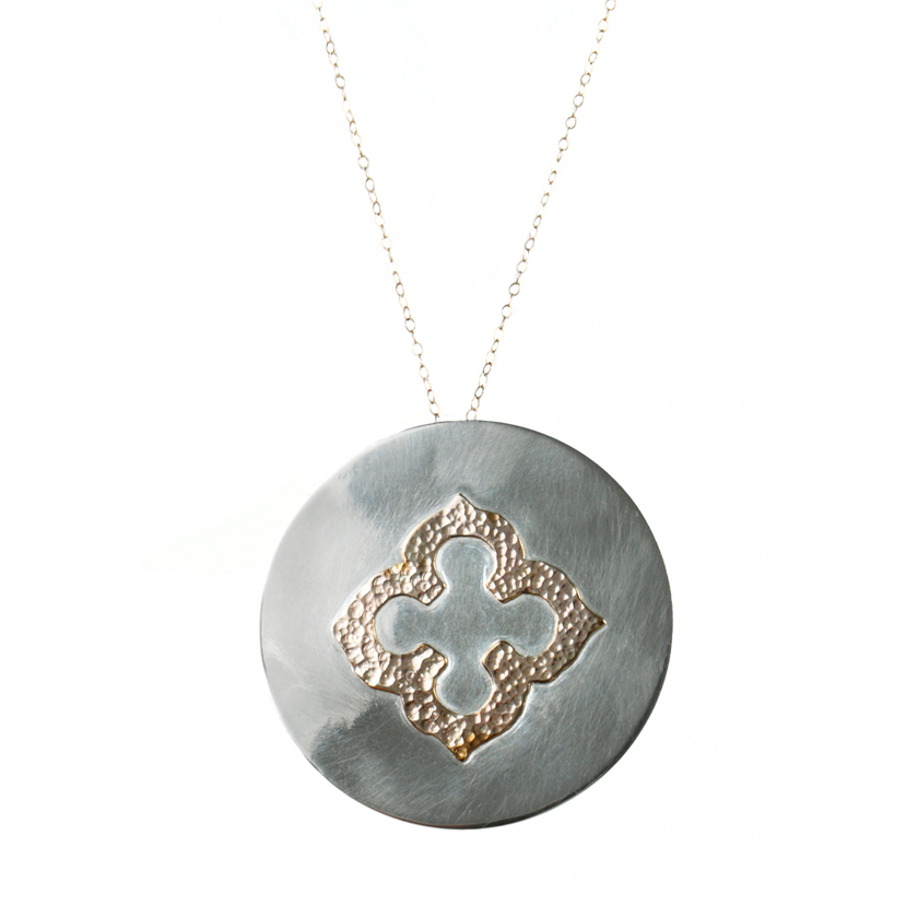 Large Medallion with Clover Necklace