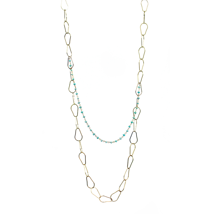 Gold and Turquoise Chain