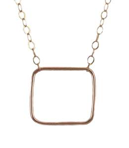 Teenie Square Necklace