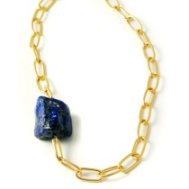 Gold and Lapis seamless Necklace