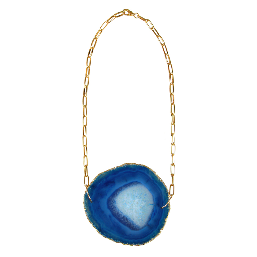Sliced Agate Statement Necklace (Medium)